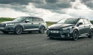 Ford Focus RS kundër Audi SQ7 (Video)