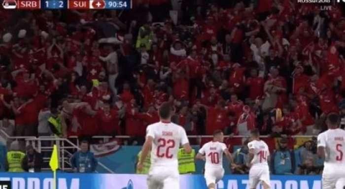 Momenti qesharak i tifozëve zviceran pasi shënon Shaqiri