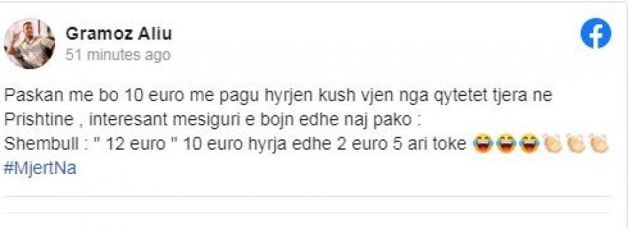 """auto HGJGH1603129143 - Mozzik reagon për idenë e Ahmetit: Mjert na, me siguri bojn pako """"10 euro hyrja, 2 euro 5 ari tokë"""""""