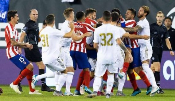 Atletico Madrid-Real Madrid, formacionet startuese